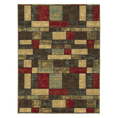 Galesburg Brown/Red Area Rug Rug Size: Rectangle 3 W x 5 L