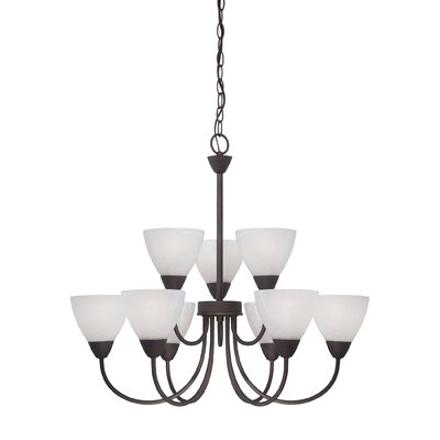 Sheldrake 9-Light Shaded Chandelier Finish: Bronze