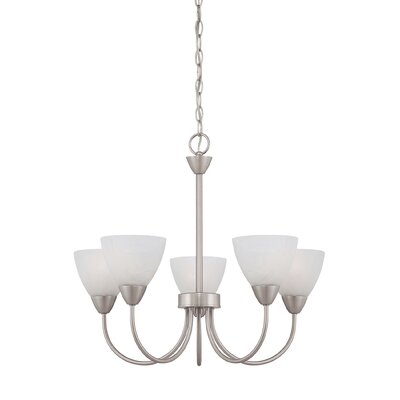 Sheldrake 5-Light Shaded Chandelier Finish: Matte nickel