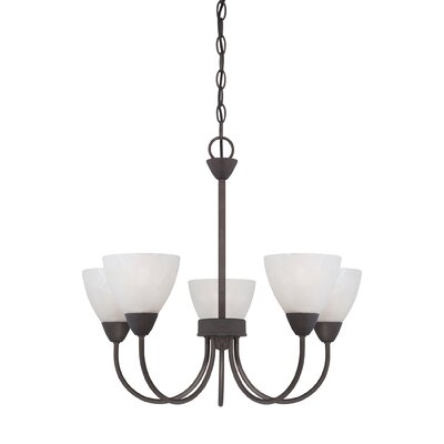 Sheldrake 5-Light Shaded Chandelier Finish: Bronze