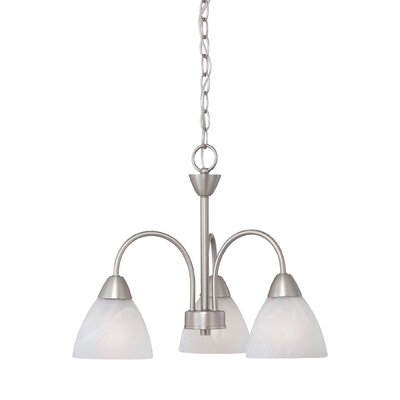 Sheldrake 3-Light Shaded Chandelier Finish: Matte Nickel