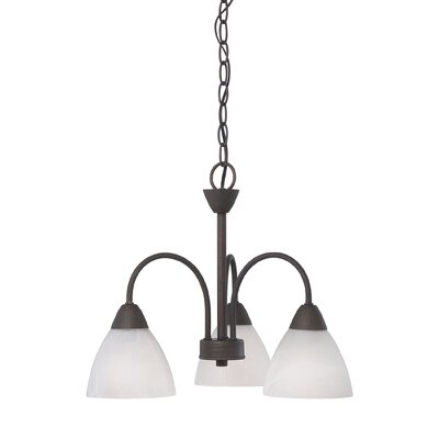 Sheldrake 3-Light Shaded Chandelier Finish: Bronze