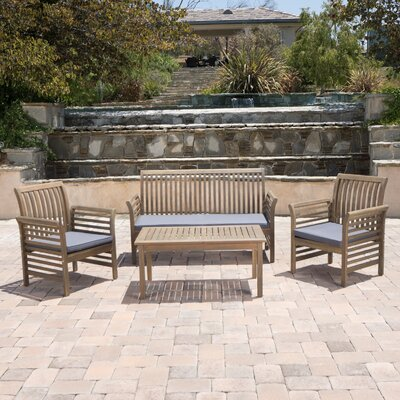 Branch Outdoor 4 Piece Conversation Set with Cushions