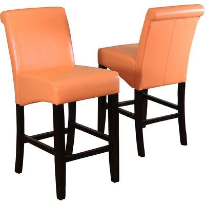 Bailey 26 Bar Stool Upholstery: Sunrise Orange