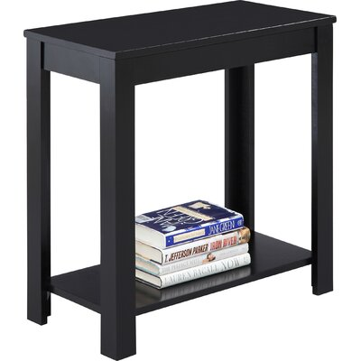 Waterloo Chairside Table Finish: Black