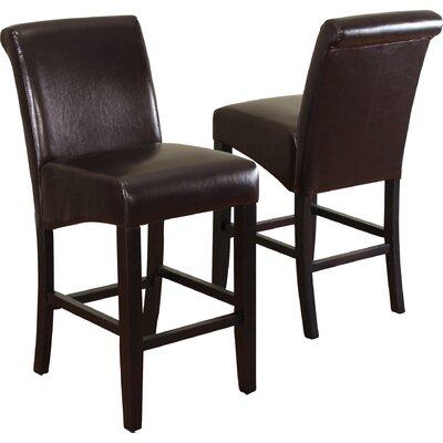 Bailey 26 Bar Stool Upholstery: Dark Brown
