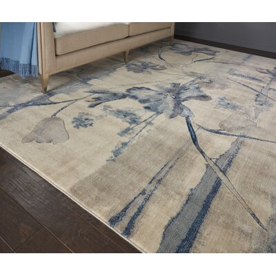 Smithtown Ivory/Blue Area Rug Rug Size: 79 x 1010
