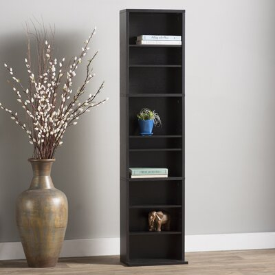 Traditional Wood Multimedia Wall Mounted Storage Rack Color: Espresso