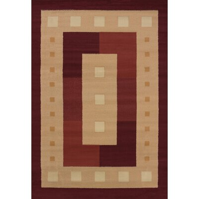 Finnegan Times Square Burgundy Area Rug Rug Size: 710 x 106