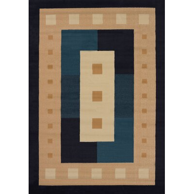 Finnegan Times Square Navy Area Rug Rug Size: Runner 111 x 74