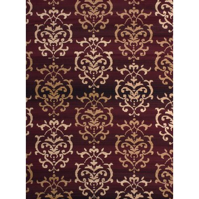 Fitchett Burgundy/Beige Area Rug Rug Size: 111 x 33