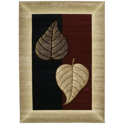 Ganley Basil Burgundy Rug Rug Size: Rectangle 53 x 76