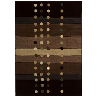 Ganley Cascades Chocolate Rug Rug Size: Rectangle 53 x 76