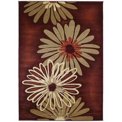 Ganley Dahlia Terracotta Rug Rug Size: Rectangle 53 x 76