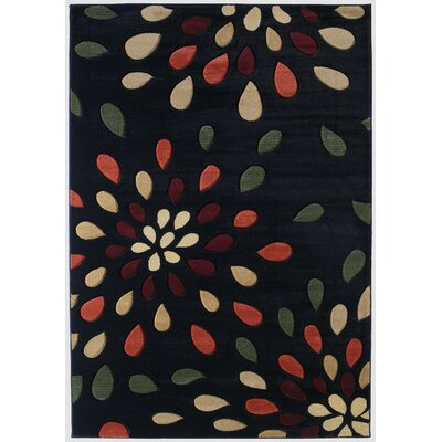 Ganley Dazzle Onyx Rug Rug Size: Rectangle 53 x 76
