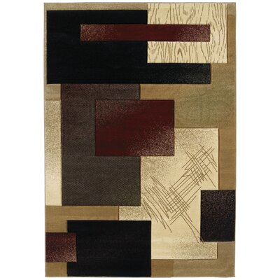 Ganley Mondavi Burgundy Rug Rug Size: Rectangle 53 x 76