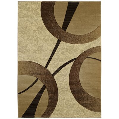 Ganley Zaga Beige Rug Rug Size: Rectangle 53 x 76