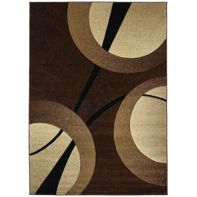 Ganley Zaga Chocolate Rug Rug Size: Rectangle 53 x 76