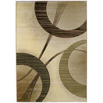 Ganley Zaga Cream Rug Rug Size: Rectangle 53 x 76