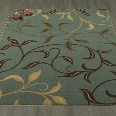 Galesburg Sage Green Area Rug Rug Size: Rectangle 5 X 66