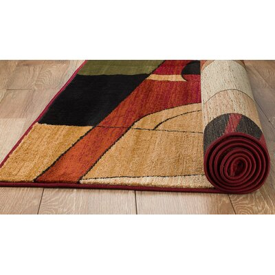 Frieda Burgundy Area Rug Rug Size: 5 x 7