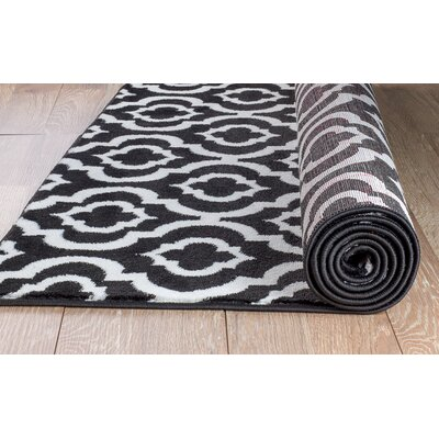 Frieda Black Area Rug Rug Size: 2 x 3