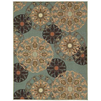 Galesburg Oriental Design Blue Area Rug Rug Size: Rectangle 82 x 10