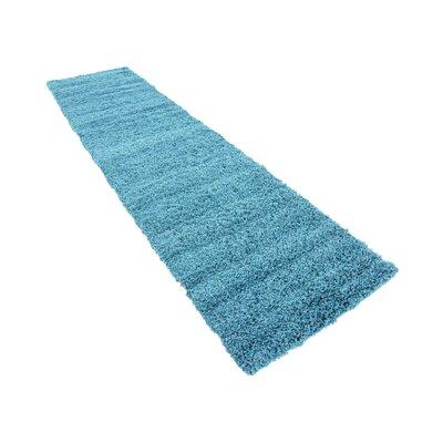 Lilah Teal Blue Area Rug Rug Size: Runner 22 x 65