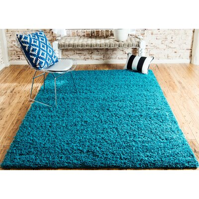 Lilah Teal Blue Area Rug Rug Size: Rectangle 7 x 10