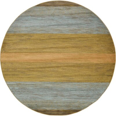 Simsbury Brown Area Rug Rug Size: Round 8