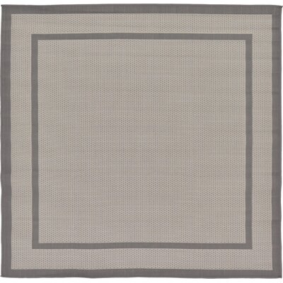 Marlborough Gray Outdoor Area Rug Rug Size: Square 6