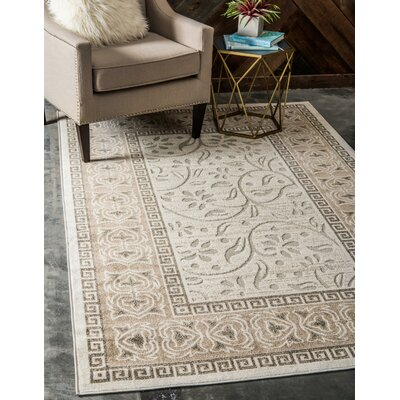 Margo Cream Indoor/Outdoor Area Rug Rug Size: Rectangle 4 x 6