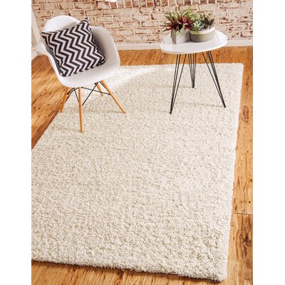Lilah Basic Ivory Area Rug Rug Size: Rectangle 7 x 10, Rug Color: Snow White