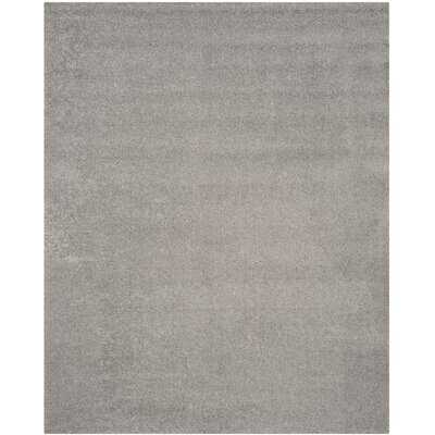 Curran Shag Light Gray Area Rug Rug Size: Rectangle 8 x 10