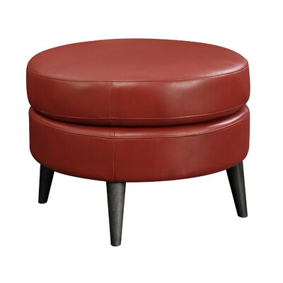 Keeter Round Ottoman Upholstery: Red