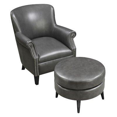 Keeter Armchair and Ottoman Upholstery: Dark Gray