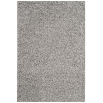 Curran Shag Light Gray Area Rug Rug Size: Rectangle 51 x 76