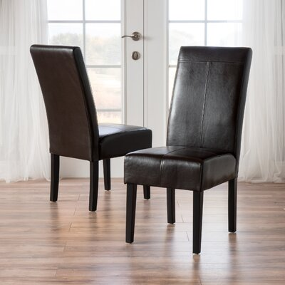 T-Stitch Upholstered Dining Chair Color: Chocolate Brown