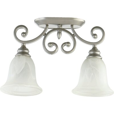 Asheville 2-Light Ceiling Mount Finish: Classic Nickel
