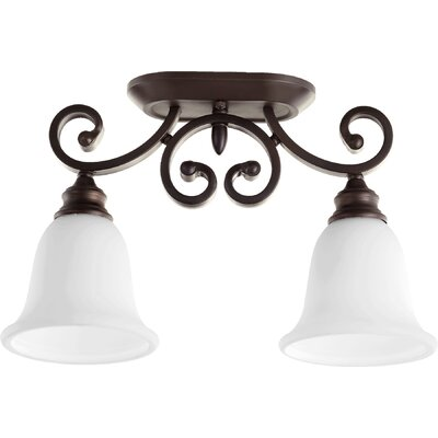 Asheville 2-Light Semi Flush Mount