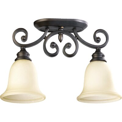 Asheville 2-Light Ceiling Mount Finish: Oil Rubbed Bronze