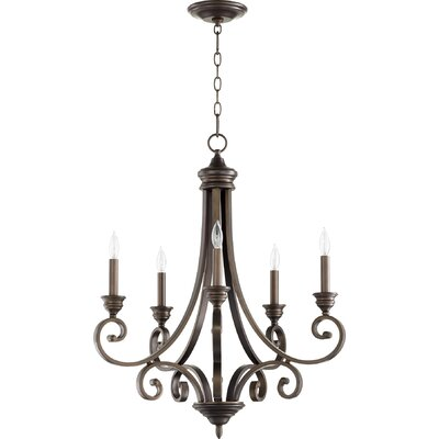 Asheville 5-Light Candle-Style Chandelier Finish: Oiled Bronze