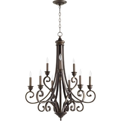 Asheville 9-Light Candle-Style Chandelier Finish: Oiled Bronze