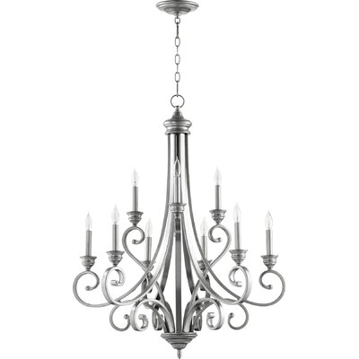 Asheville 9-Light Candle-Style Chandelier Finish: Classic Nickel