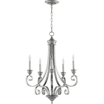 Asheville 5-Light Candle-Style Chandelier Finish: Classic Nickel