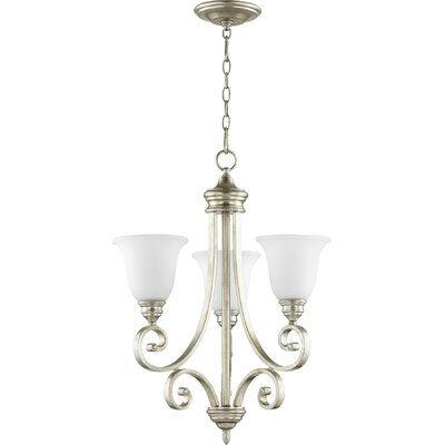 Asheville 3-Light Shaded Chandelier Finish: Aged Silver Leaf