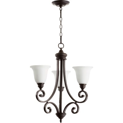 Asheville 3-Light Shaded Chandelier Finish: Oiled Bronze
