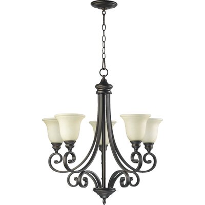 Asheville Transitional 5-Light Shaded Chandelier Finish: Oiled Bronze