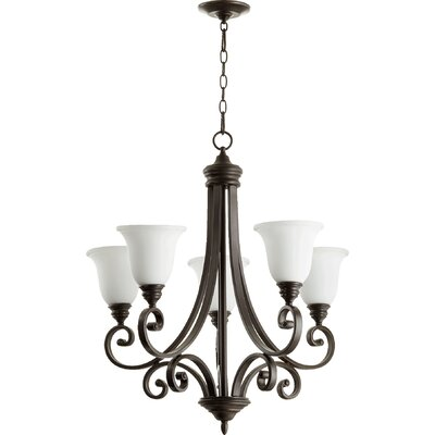 Asheville 5-Light Shaded Chandelier Finish: Oiled Bronze