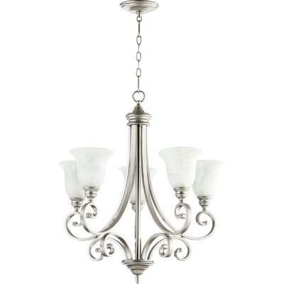 Asheville Transitional 5-Light Shaded Chandelier Finish: Classic Nickel